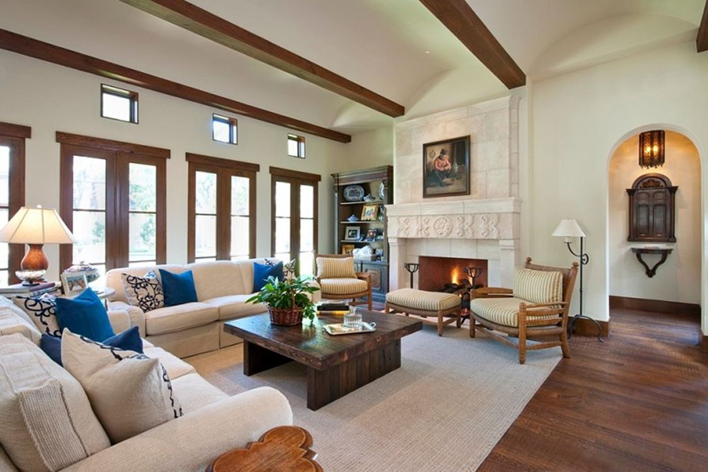 Mediterranean style living room design ideas for Mediterranean house interior design