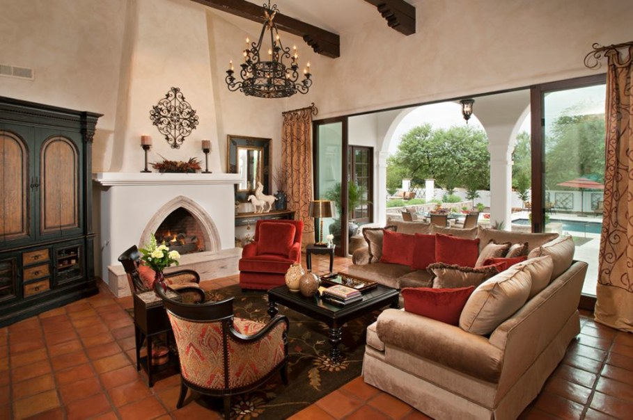 29 Living Room Design Ideas With Photos: Mediterranean-Style Living Room Design Ideas