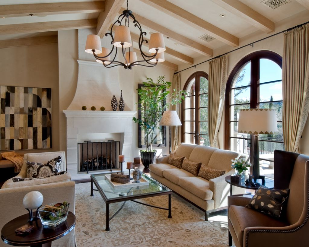 Mediterranean style living room design ideas for Living room interior design photo gallery