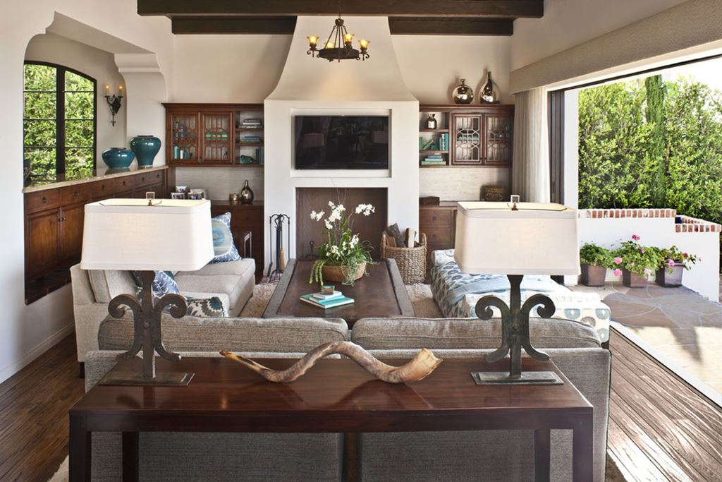 stylish living room home design ideas | Mediterranean-Style living room design ideas