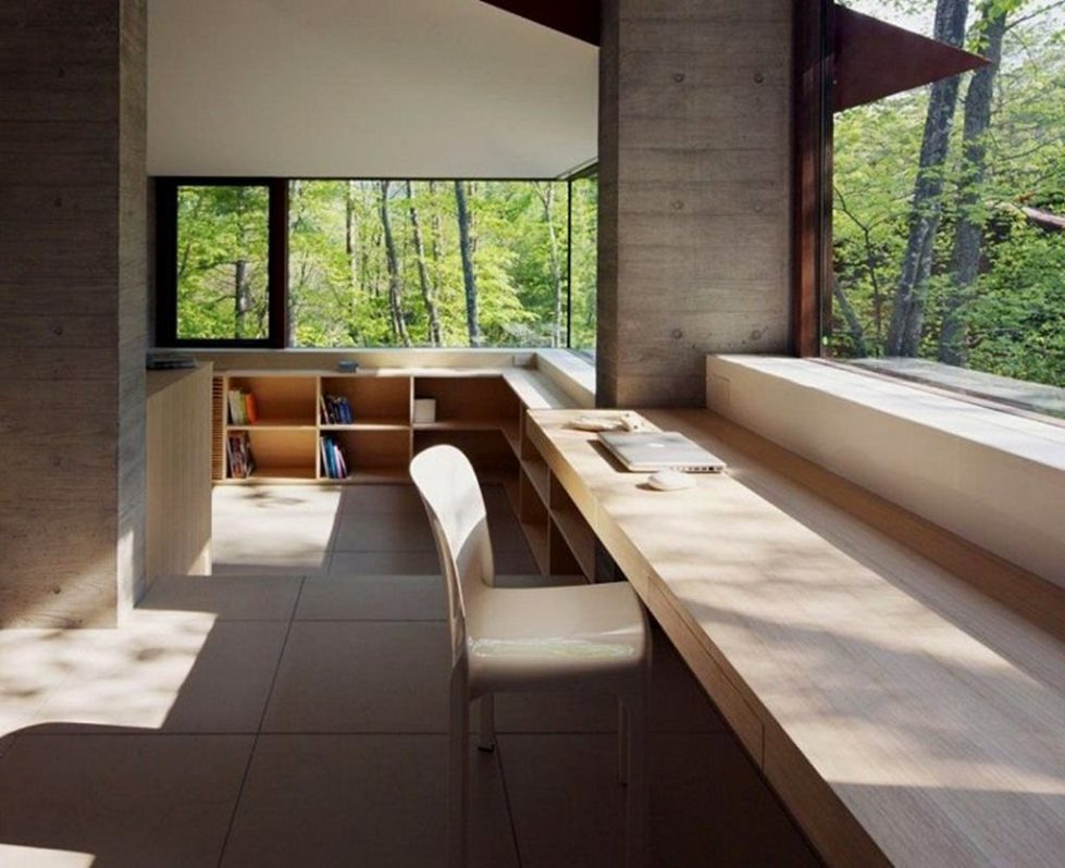 Modern japanese aesthetics in the interior design for Balcony aesthetic