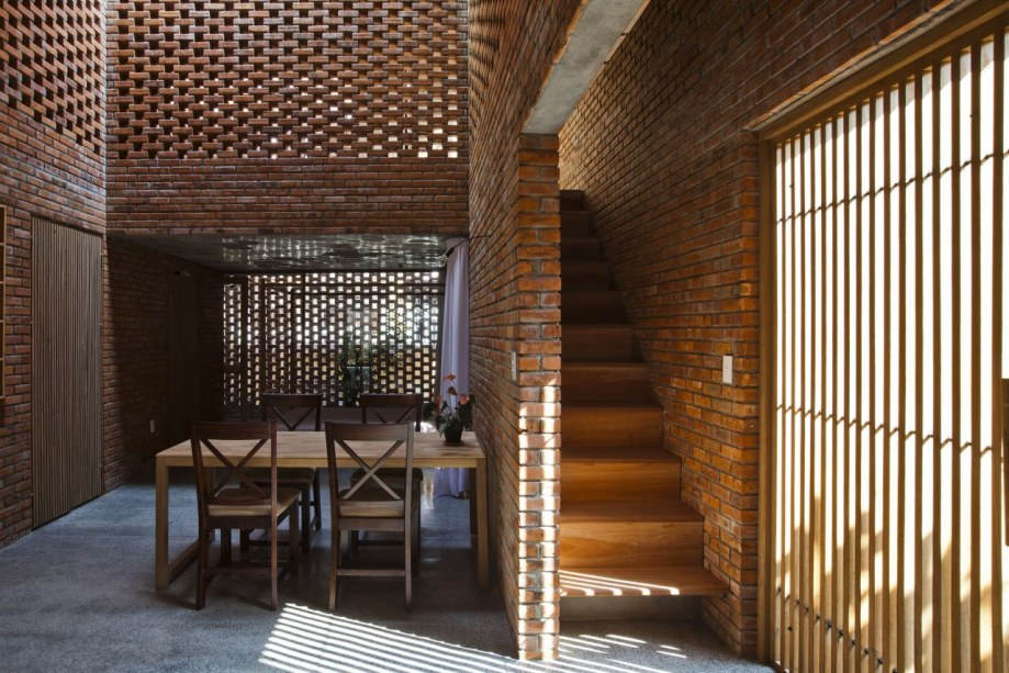 Brick Interior Of The House In Coastal City Of Vietnam