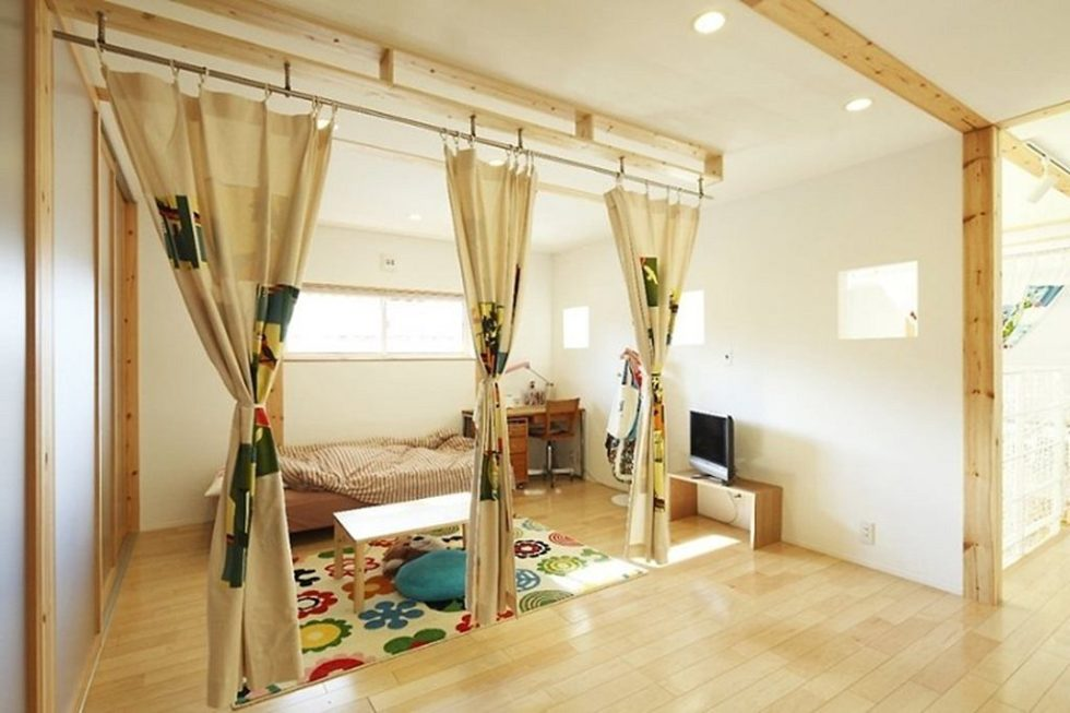 Children's bedroom in a modern Japanese style