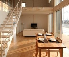 Contemporary Japanese style dining room design