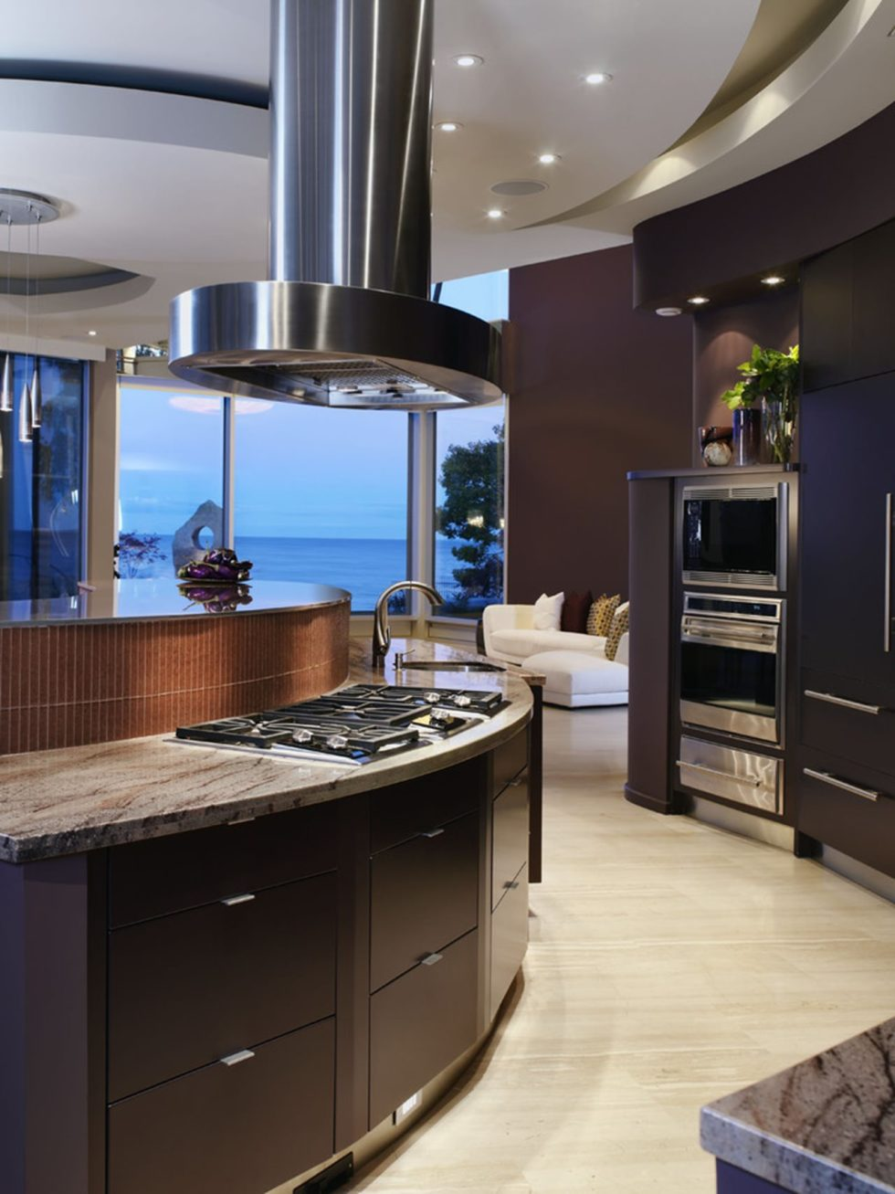 Hi tech kitchen design for Cuisine contemporaine