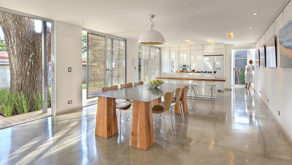 Beige kitchen - lighting fixtures