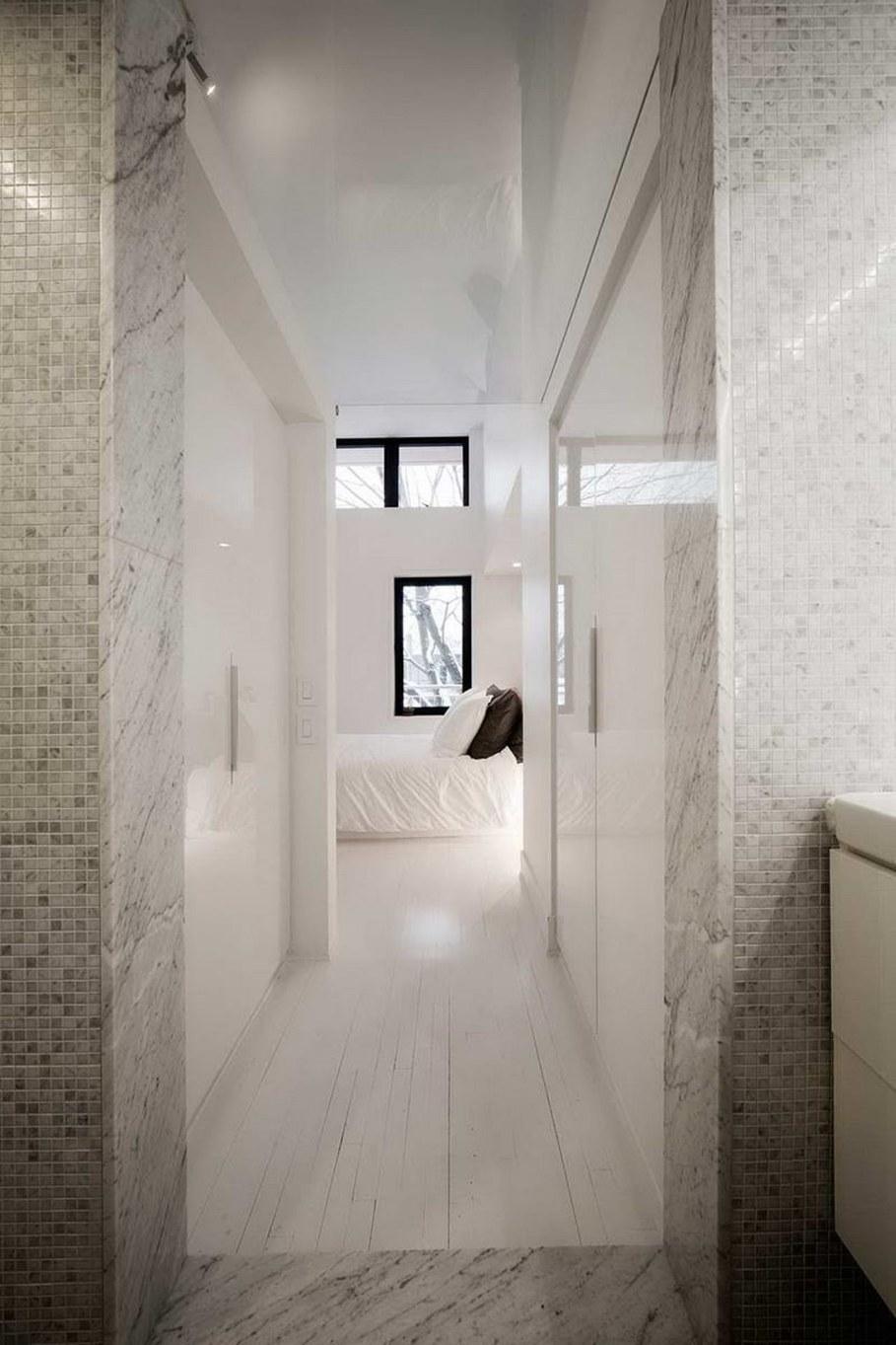 Juliette aux combles - bedroom and bathroom