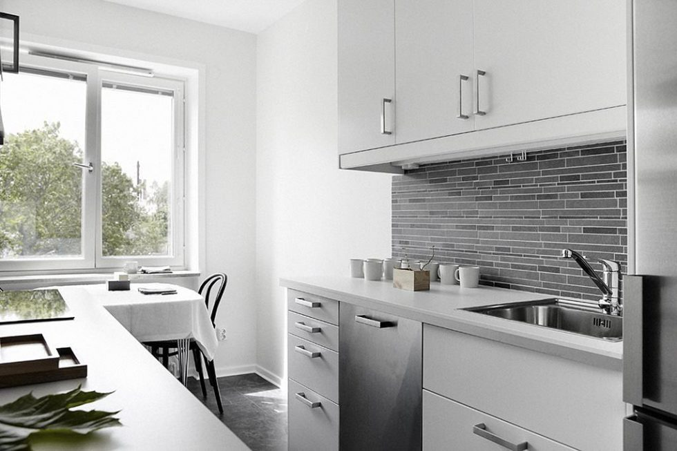 Kitchen in a modern Japanese style