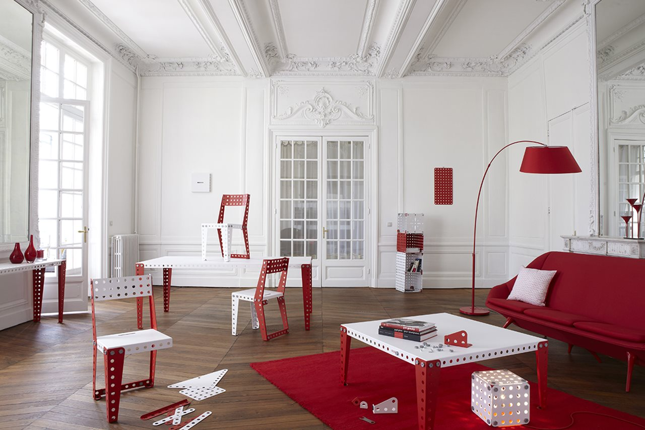 meccano furniture from the creators of the famous construction toys. Black Bedroom Furniture Sets. Home Design Ideas