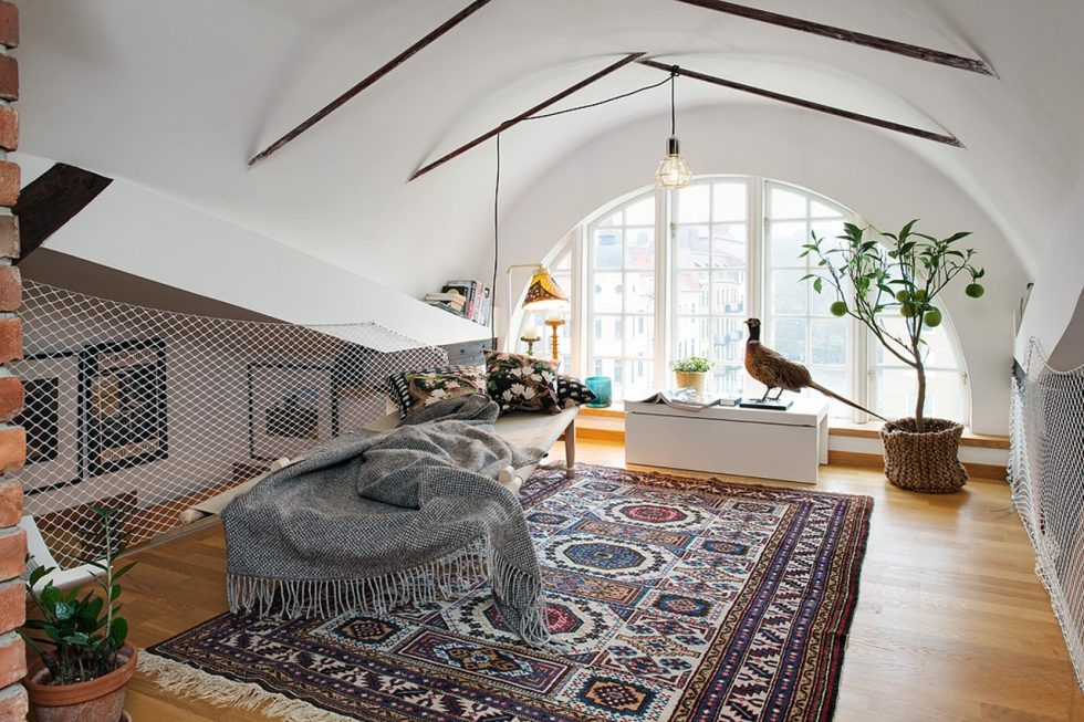 Modern Attic Apartment in the Scandinavian Style