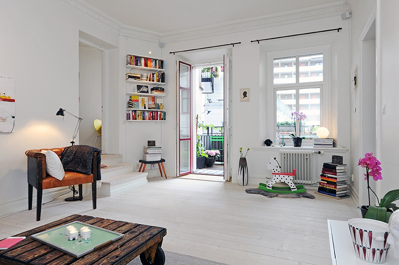 Scandinavian-style Three-Room Apartment on Apartment Decorating Styles  id=15033