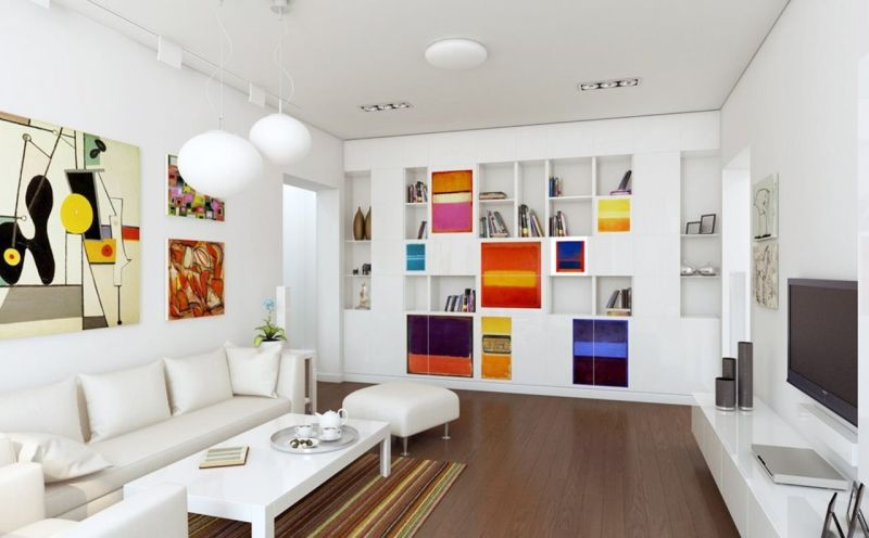 Suprematism in the Interior - abstract painting style