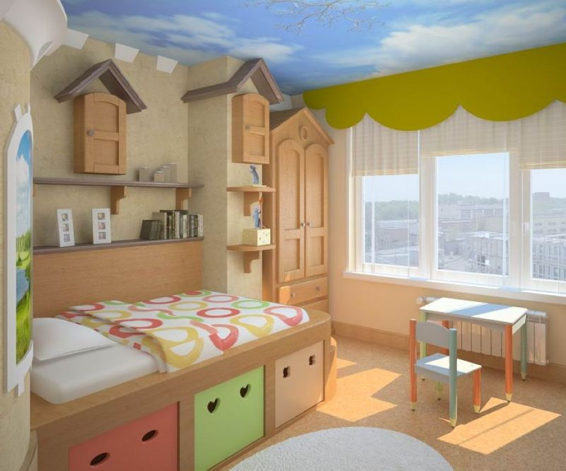 The Nursery for a Boy - large windows