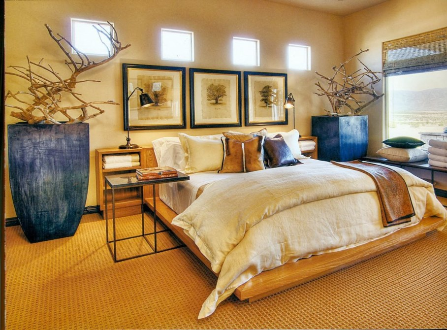 African Style Contemporary Bedroom Interior
