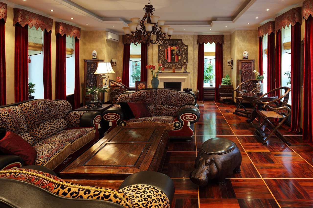 African style interior design ideas for Living room decor 2015