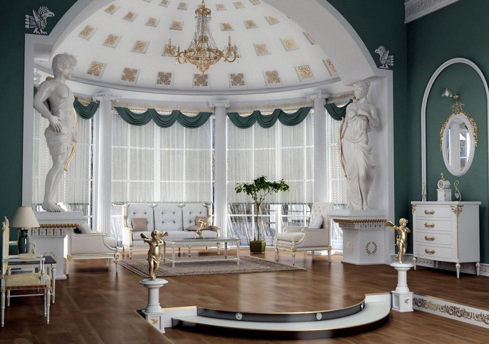 Antique Style Interior design Living room