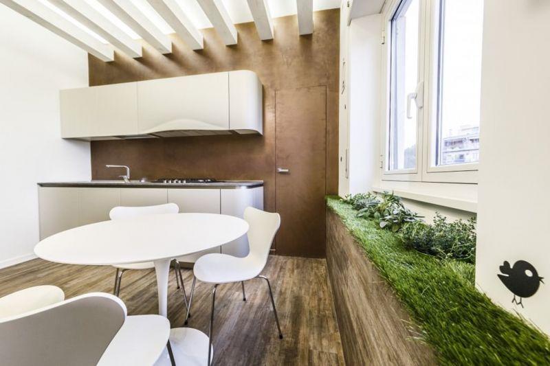 Apartment in Minimalistic Style - Miniature garden