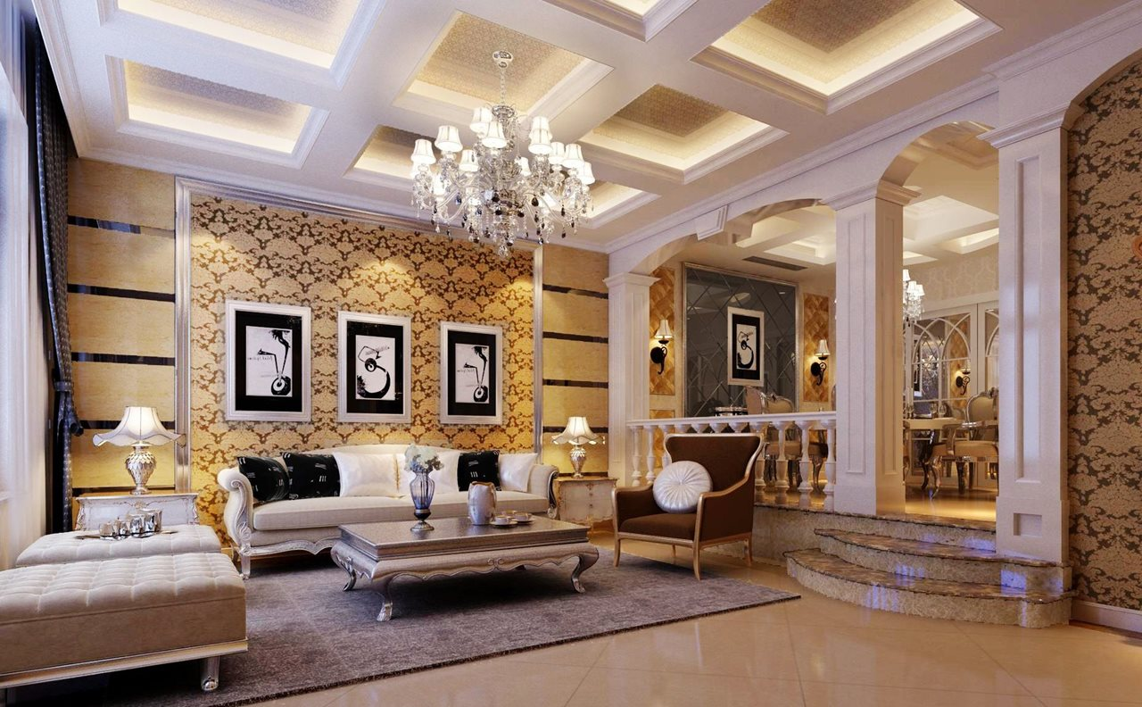 Interior Design Ideas For Living Rooms: Arabic Style Interior Design Ideas