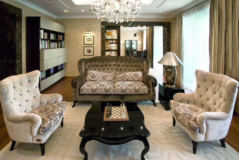 art deco interior design living room