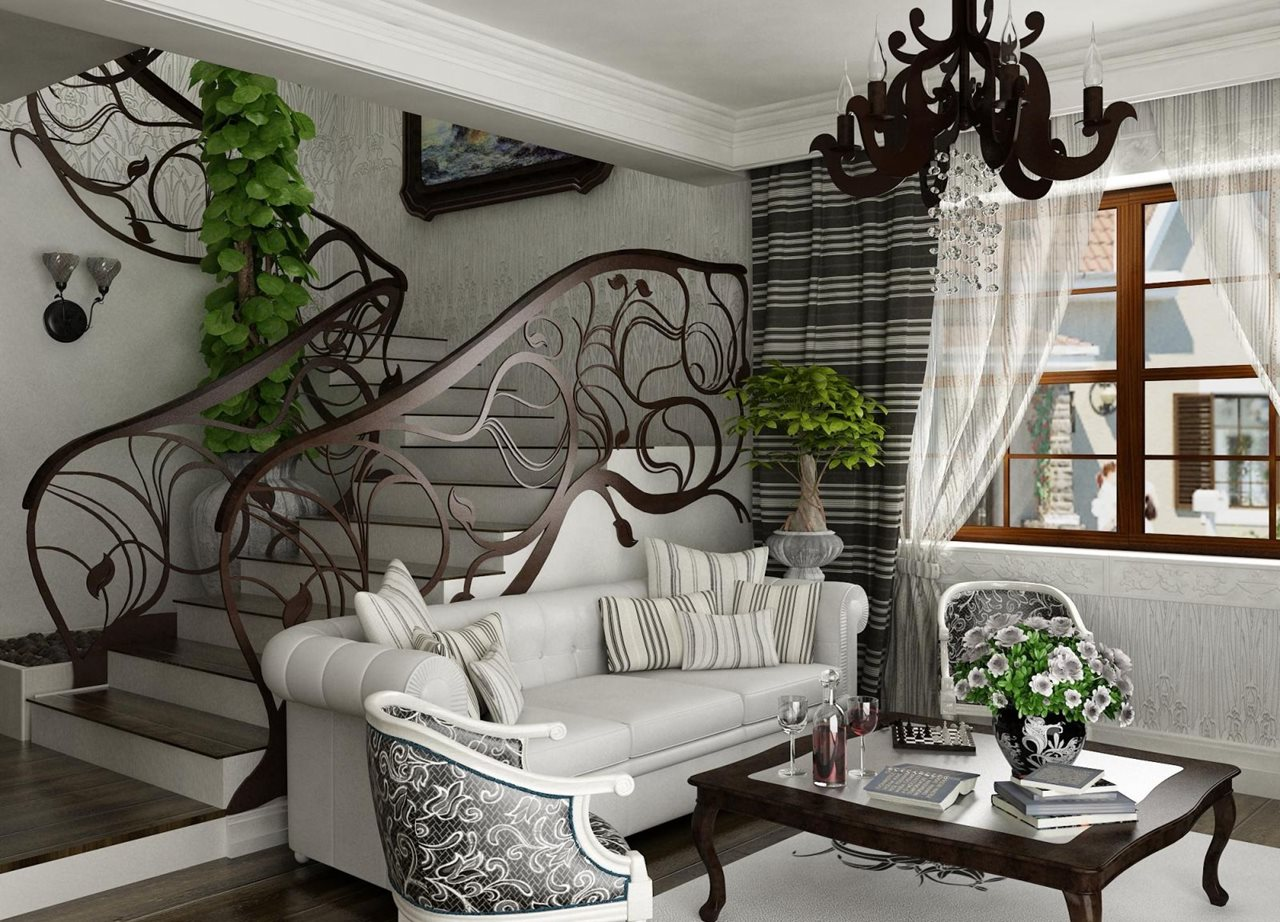 Art nouveau style interior design ideas for Art decoration for home