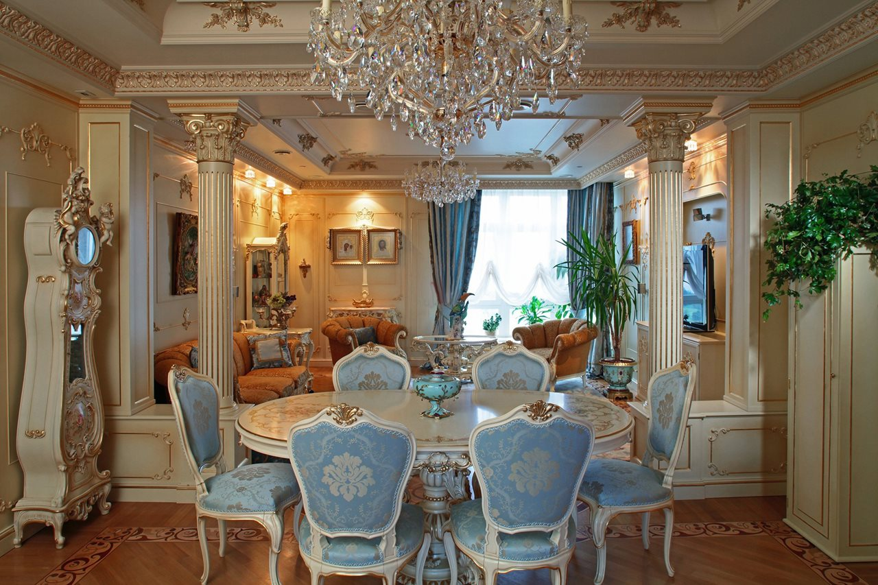 Baroque Style interior design ideas : Baroque Style Interior design Dining room from bestdesignideas.com size 1280 x 853 jpeg 248kB