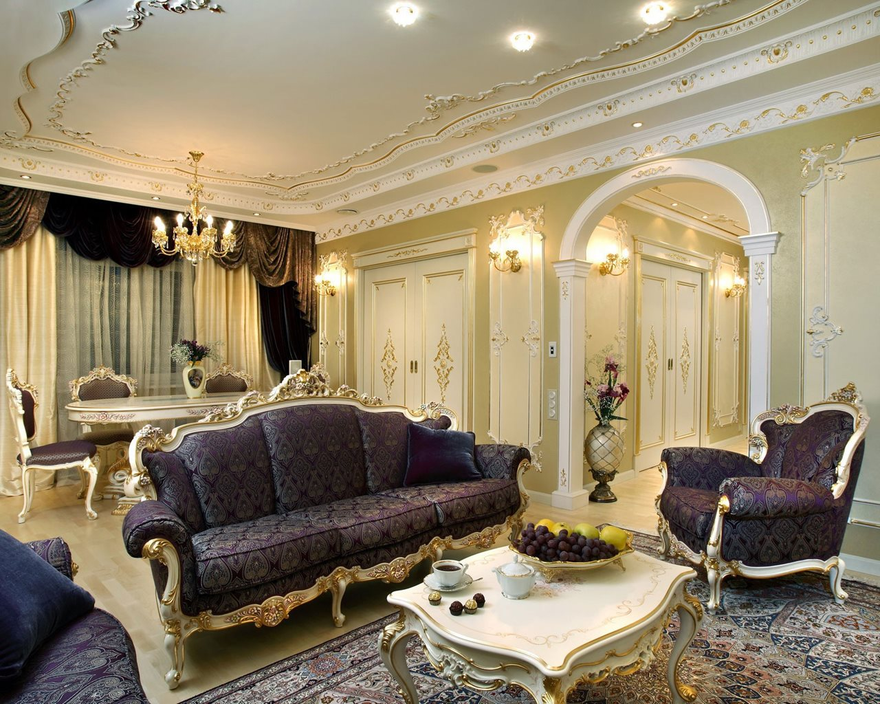 Baroque Style Living room interior design
