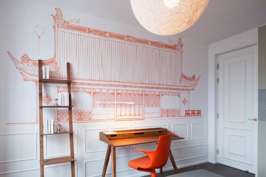 Blue Penthouse - orange Bedroom