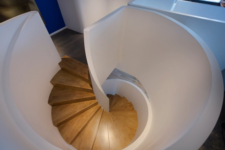 Blue Penthouse - original spiral staircase