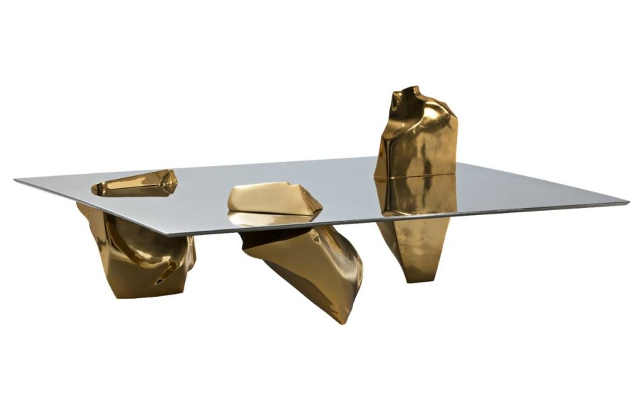 Coffee table Sereno - gold color