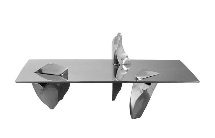 Coffee table Sereno - silver color