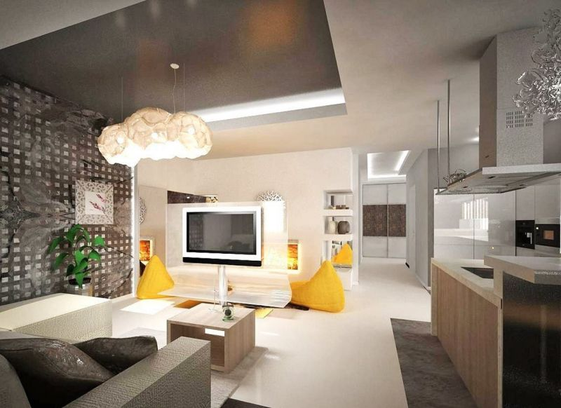 Constructivism Style Interior design - everything was open and functional