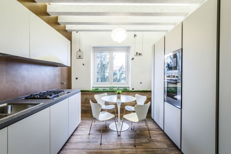 Design of the Apartment in Minimalistic Style - Kitchen
