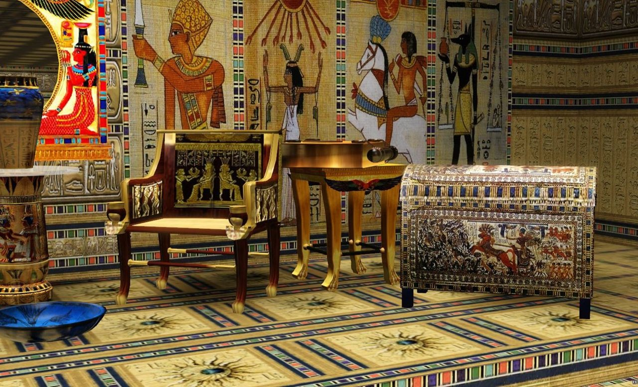 Egyptian Inspired Living Room