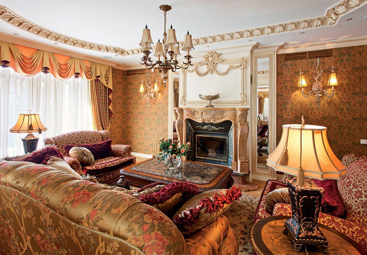English style interior design ideas - Family room interior design ...