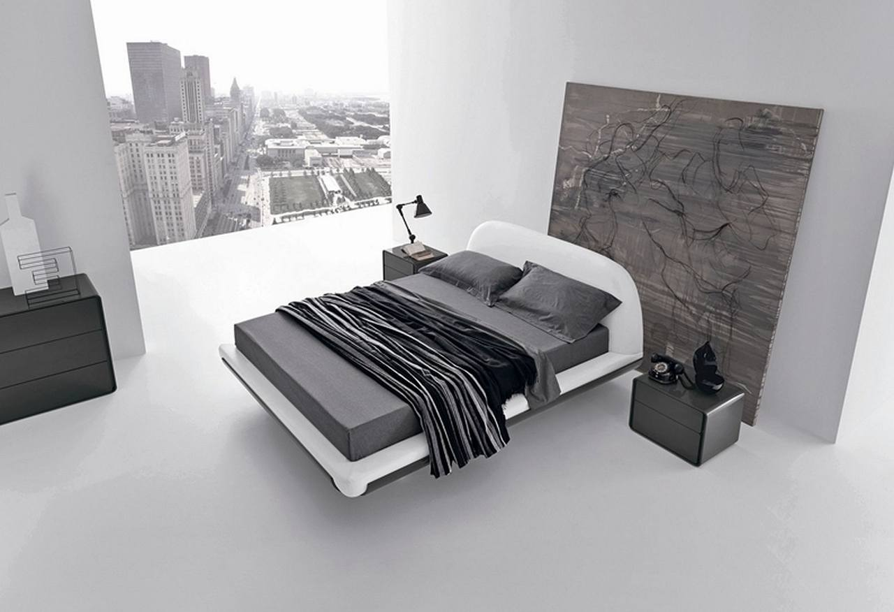 Minimalist style interior design ideas for Black and white minimalist bedroom