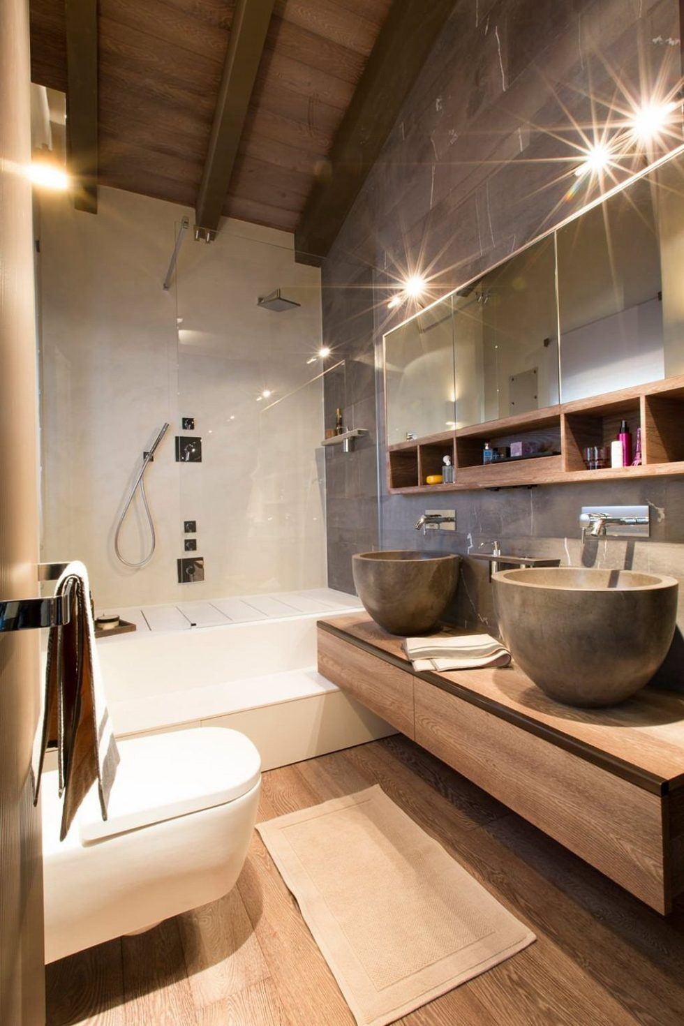 Modern apartment in switzerland fresh ideas and curious for Modern apartment bathroom ideas