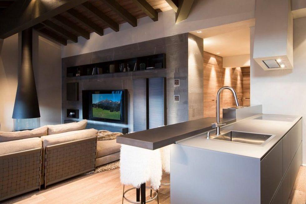 Modern Apartment in Switzerland - Kitchen island