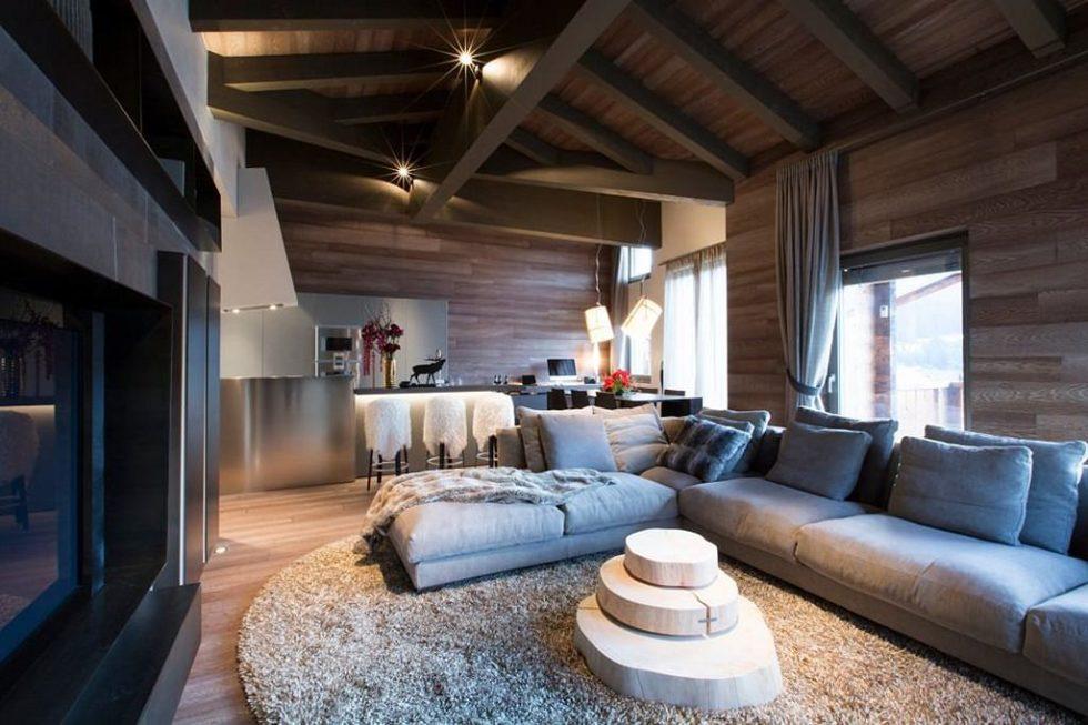 Modern Apartment in Switzerland - living room