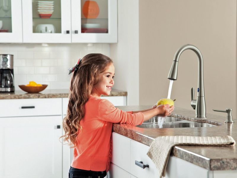 Motion Sense kitchen faucet
