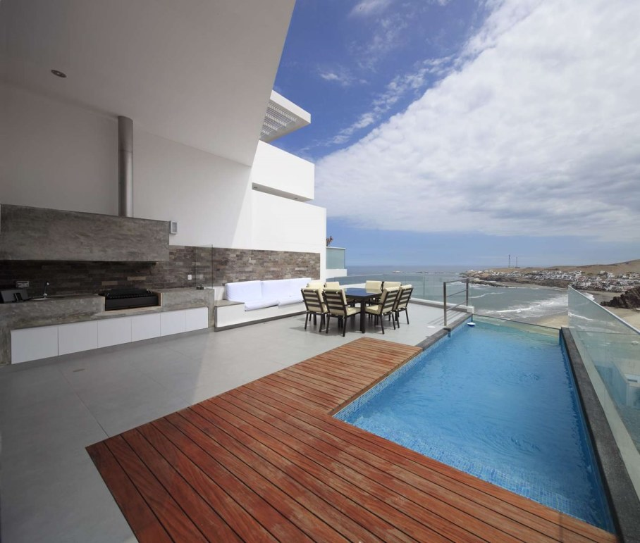 Panoramic Ocean-View House - outdoor pool