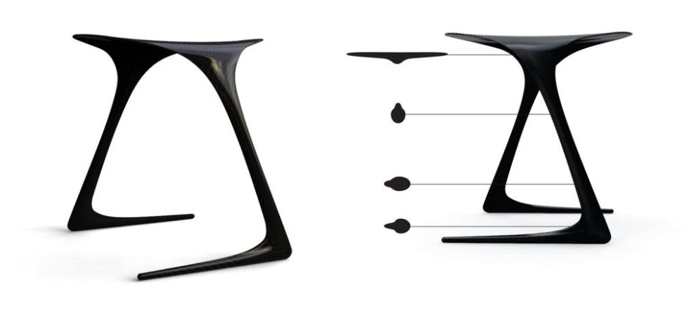 CarbonfiberChair&#;PlumStool&#;