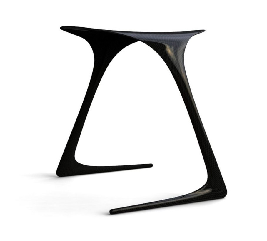Plum Stool from Alvaro Uribe