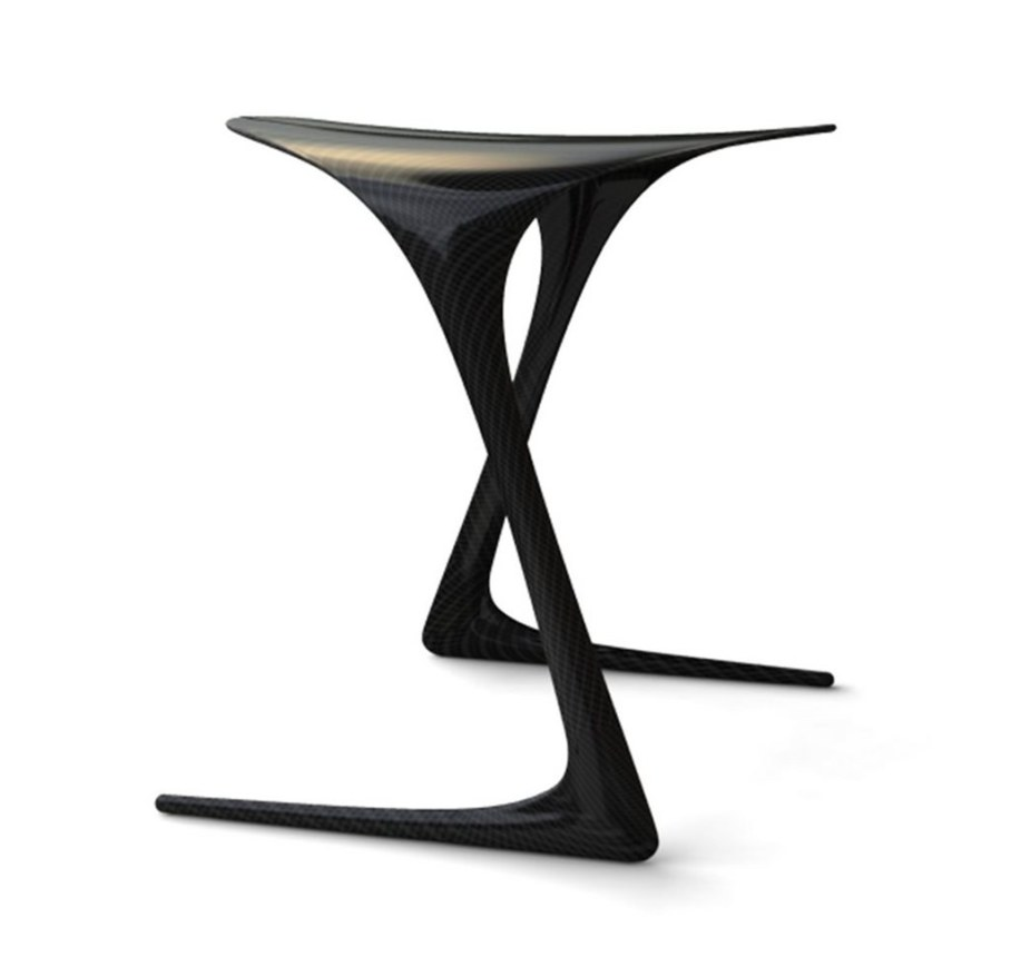 Plum Stool from Alvaro Uribe - graceful forms
