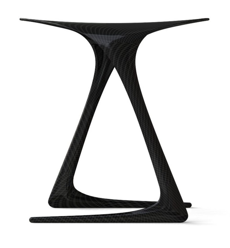 Plum Stool from Alvaro Uribe - side view