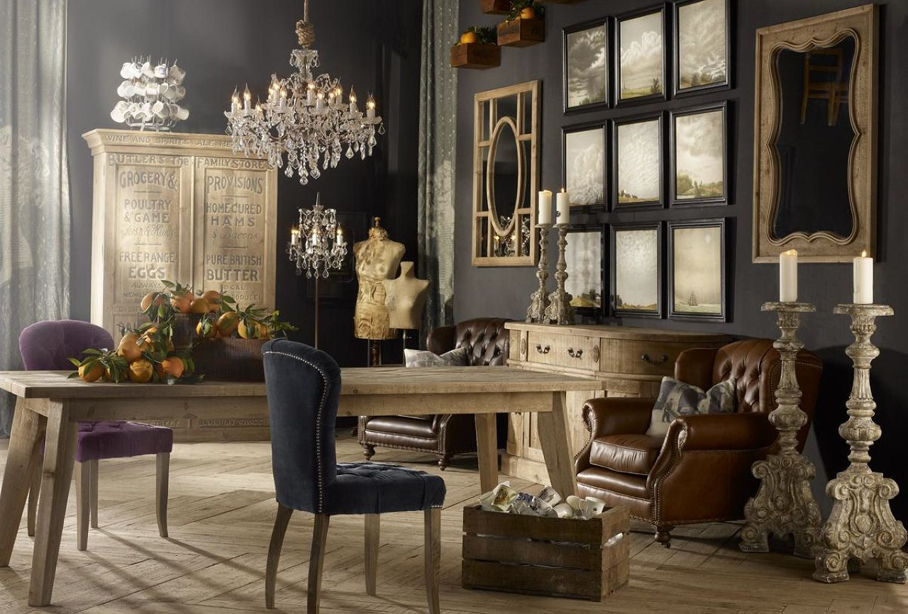 Vintage interior design living room Retro home ideas