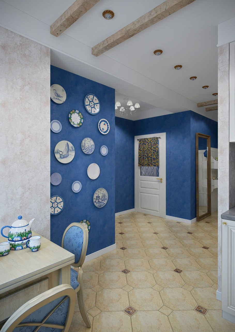 Apartment interior design in the Provence style - Kitchen