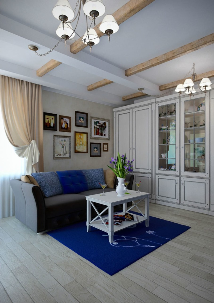 Apartment interior design in the Provence style - Living room