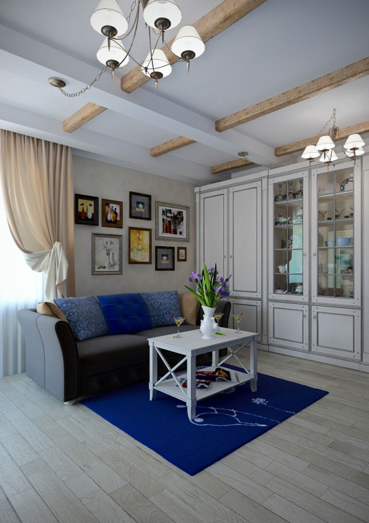 Apartment interior design in the provence style for Apartment design styles