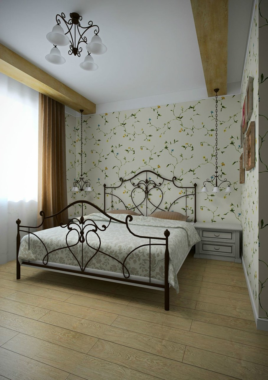 Apartment interior in the Provence style - Bedroom design ideas