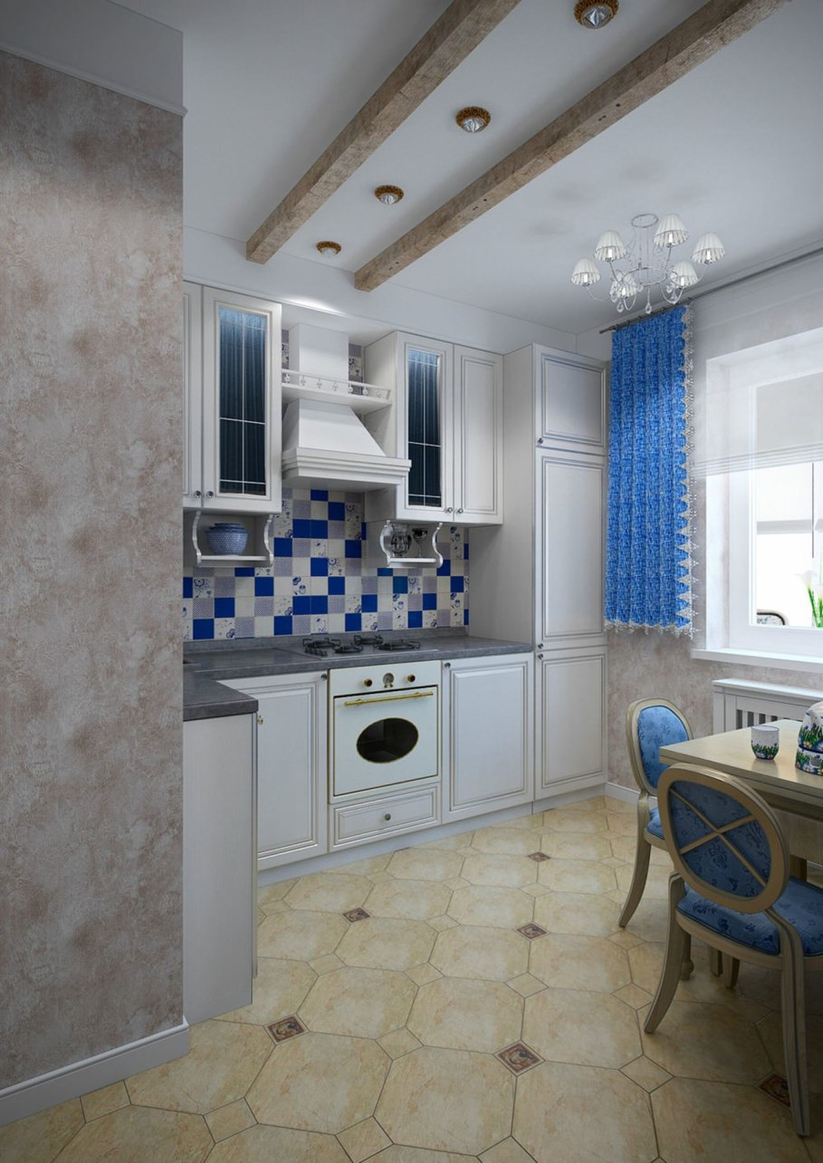 Apartment interior in the Provence style - Kitchen